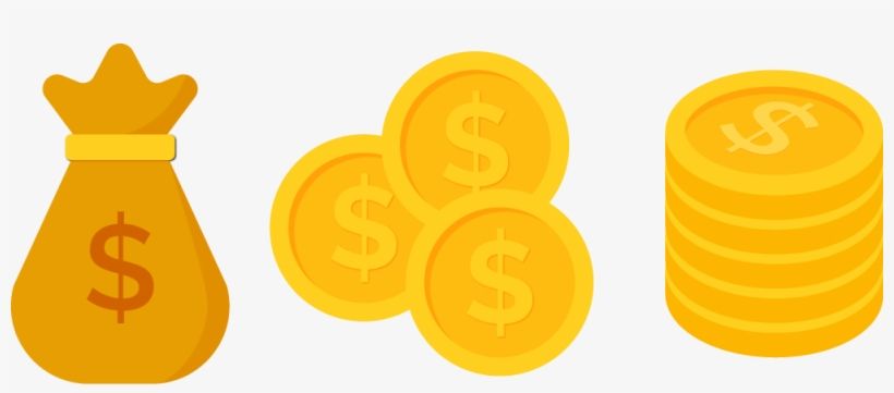Coins clipart dollar coin. Png image gold clip