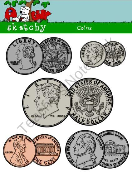 Coin clipart drawn. Us graphics obverse reverse
