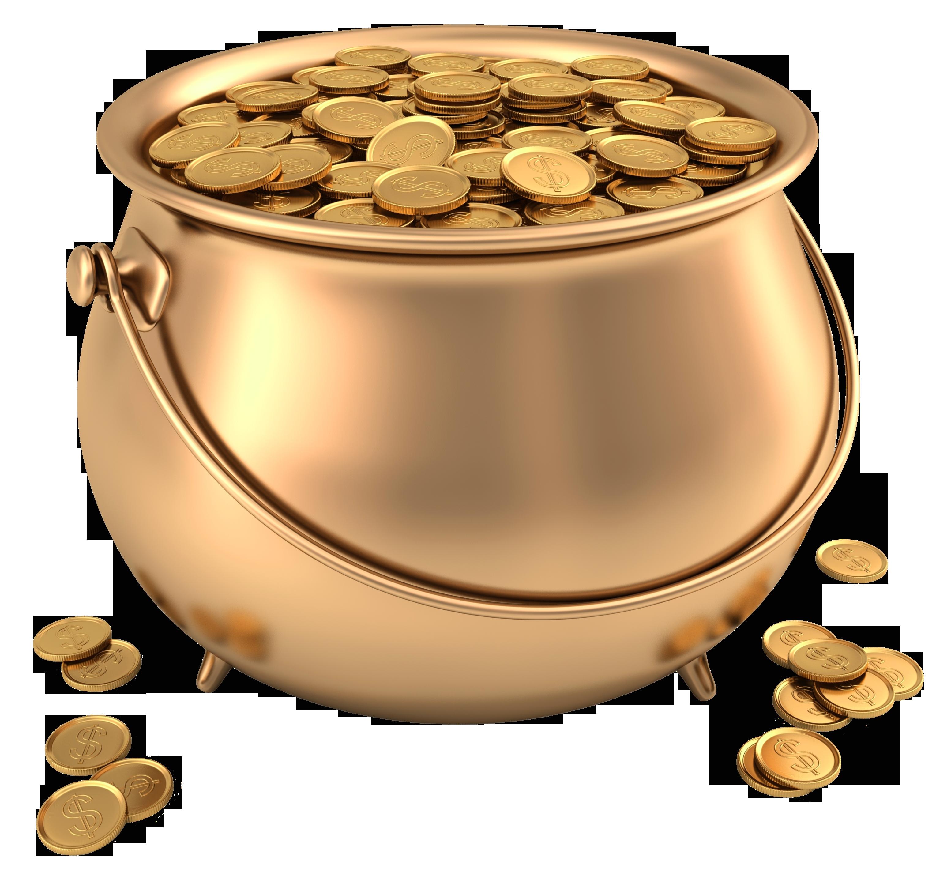 Treasure clipart golden. Image of pot gold