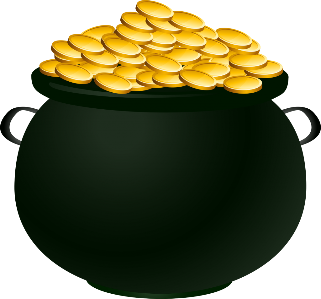 Pictures of a pot. Coin clipart empty gold