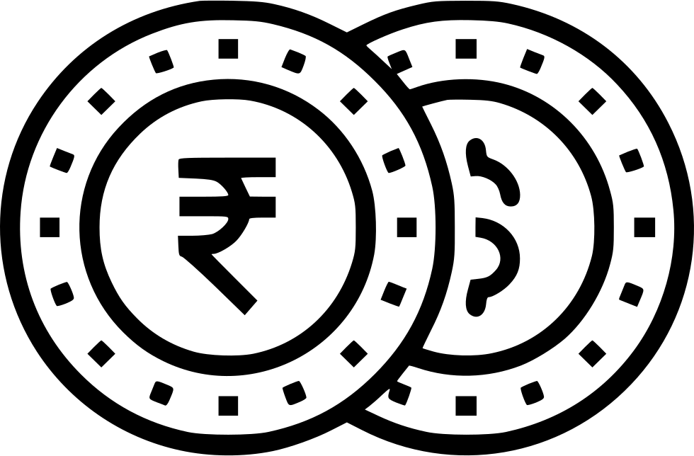 Money currency indian rupee. Finance clipart coin notes