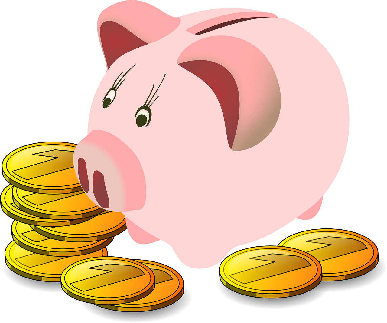 Coins clipart expense. Converting to cash is