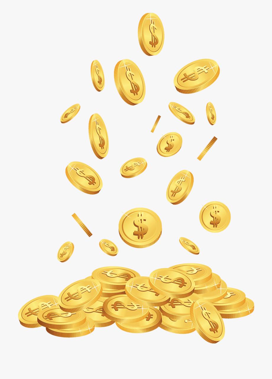 Jackpot casinos gold coins. Coin clipart falling