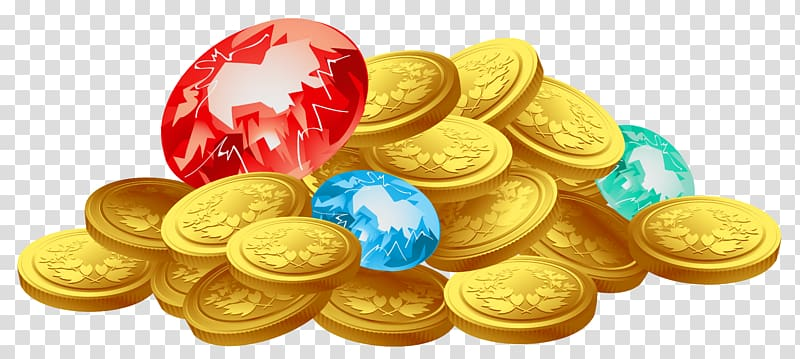 Treasure clipart gold treasure. Coin coins transparent background