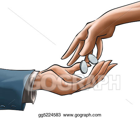 Coins clipart hand clipart. And hands stock illustration