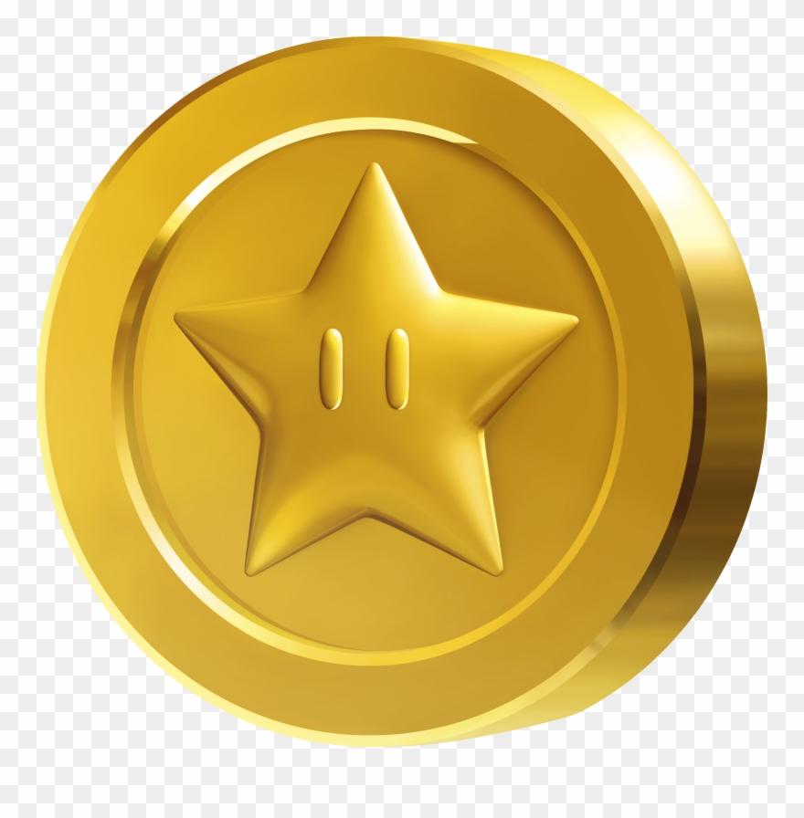 Coins clipart logo png. Coin super mario star
