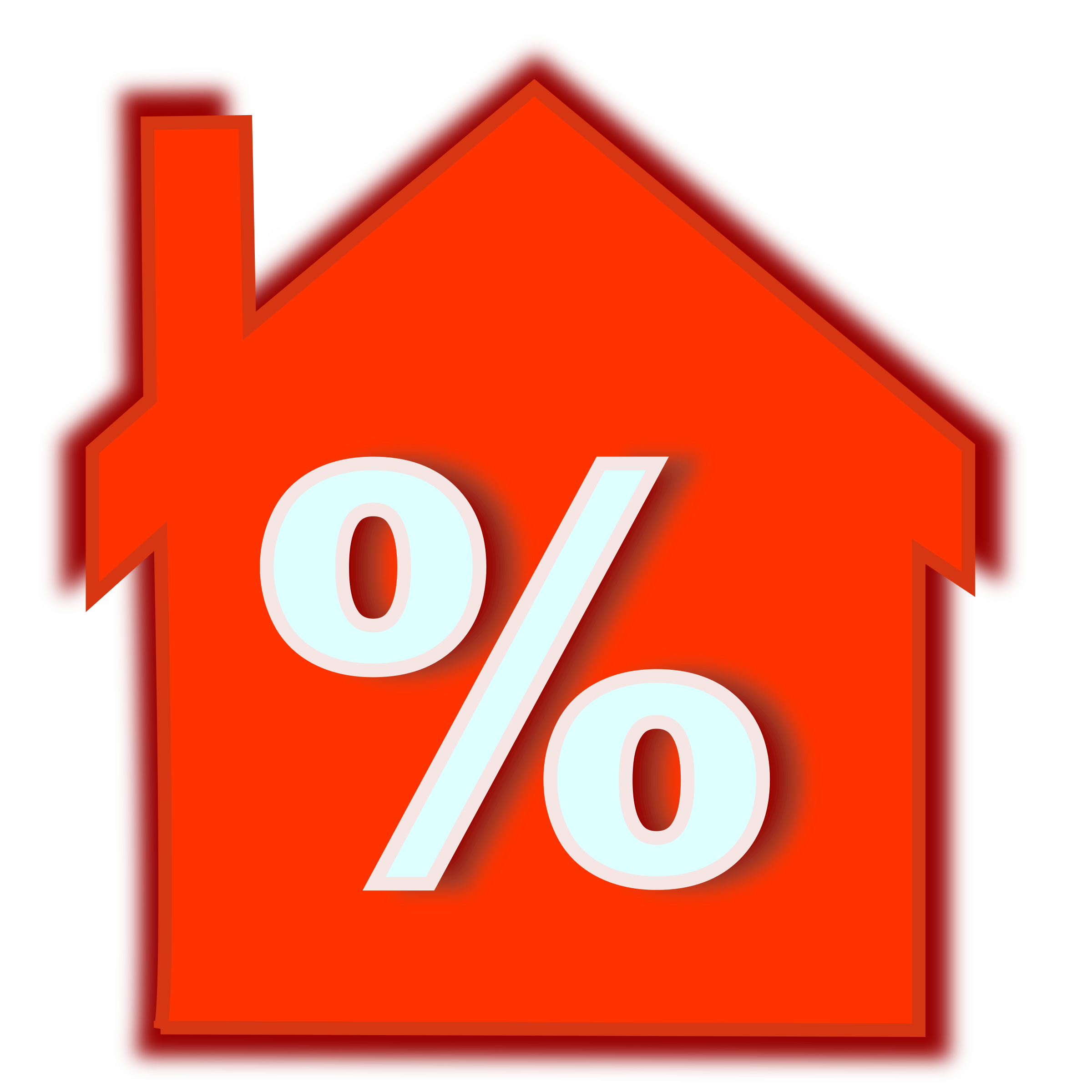 Newspaper clipart interest. Home loan rate icons