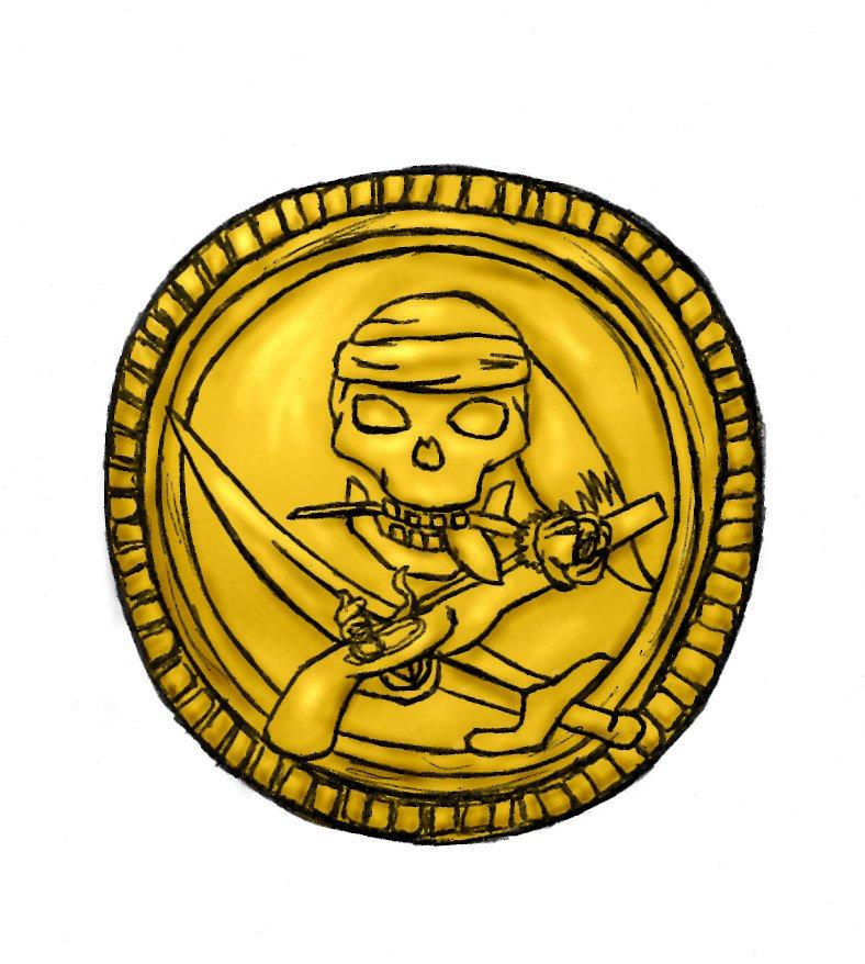 Treasure clipart treasure coin. Penny free download best