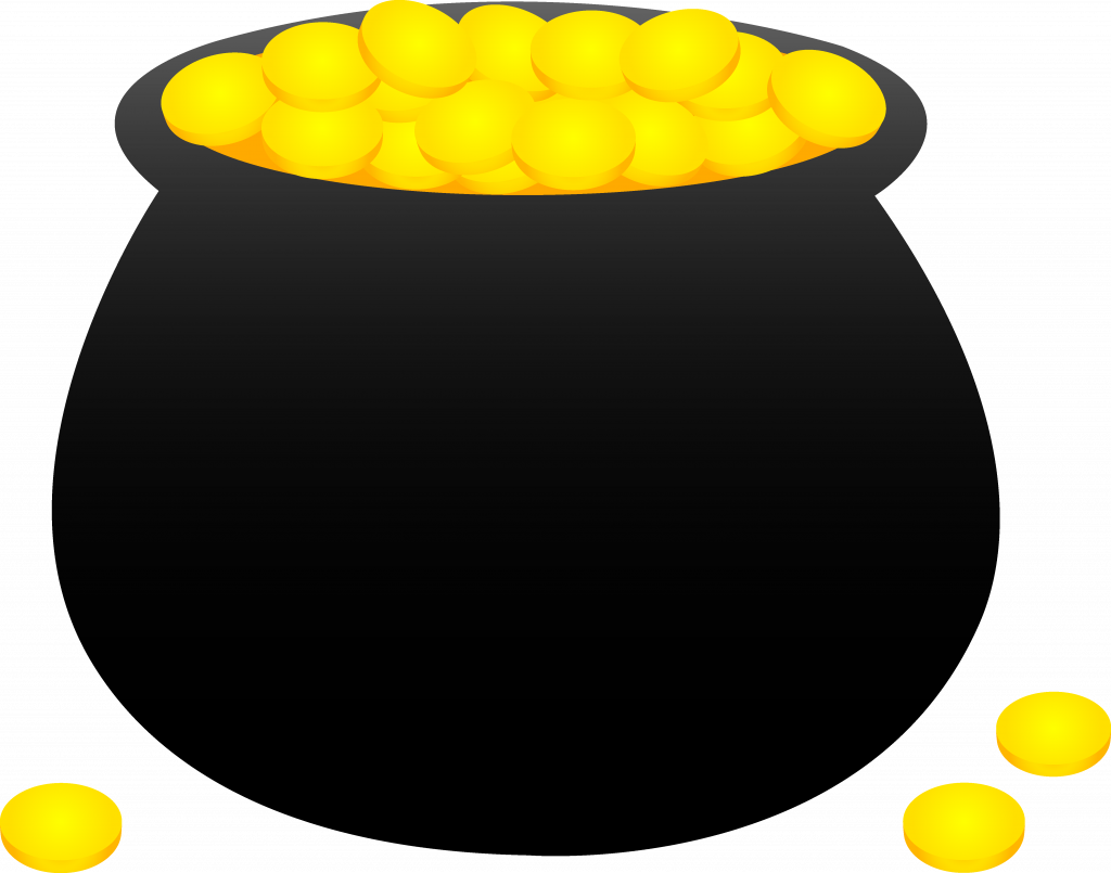 Coin clipart leprechaun gold. Picture of pot