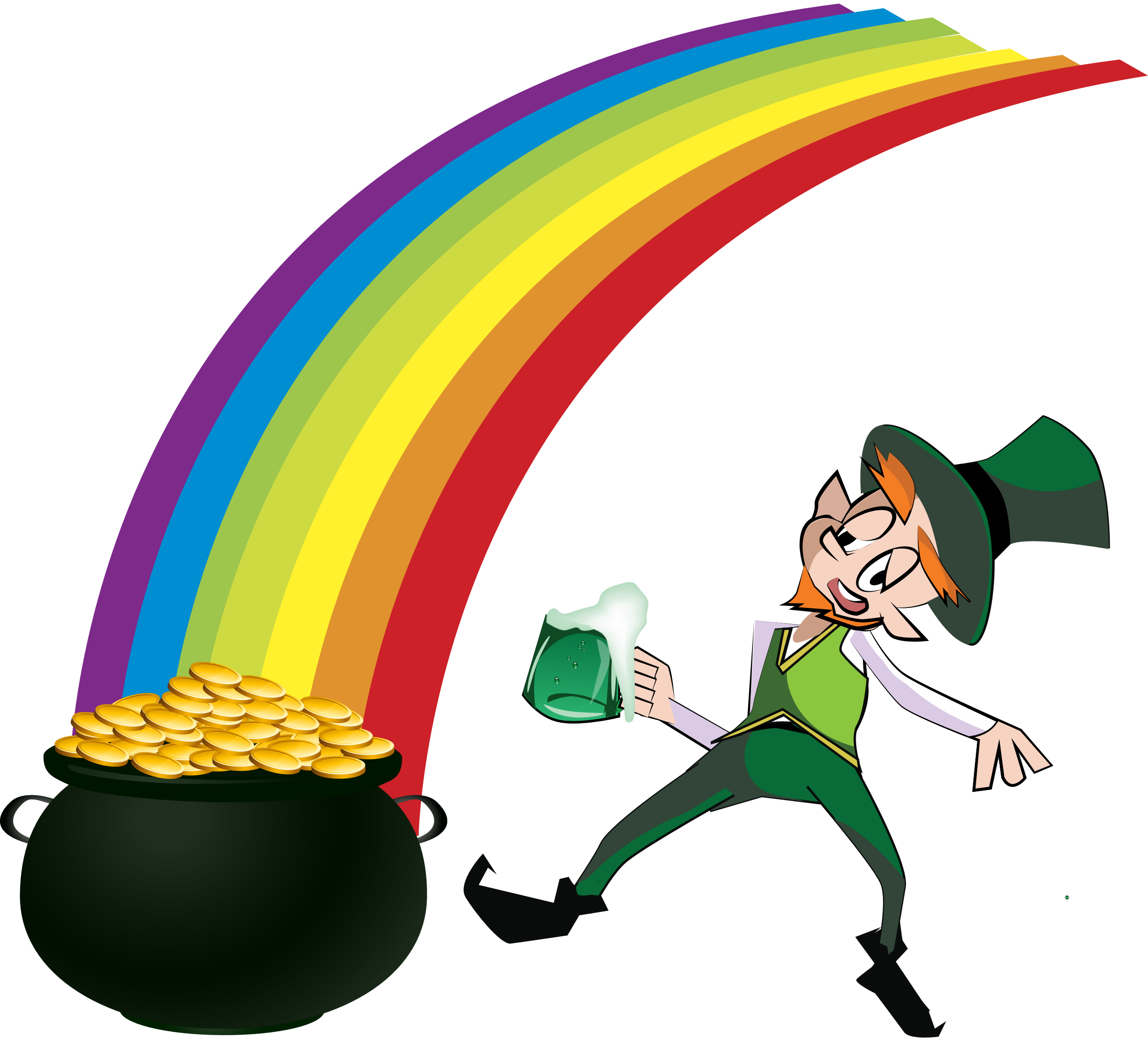 And rainbow big image. Coin clipart leprechaun gold