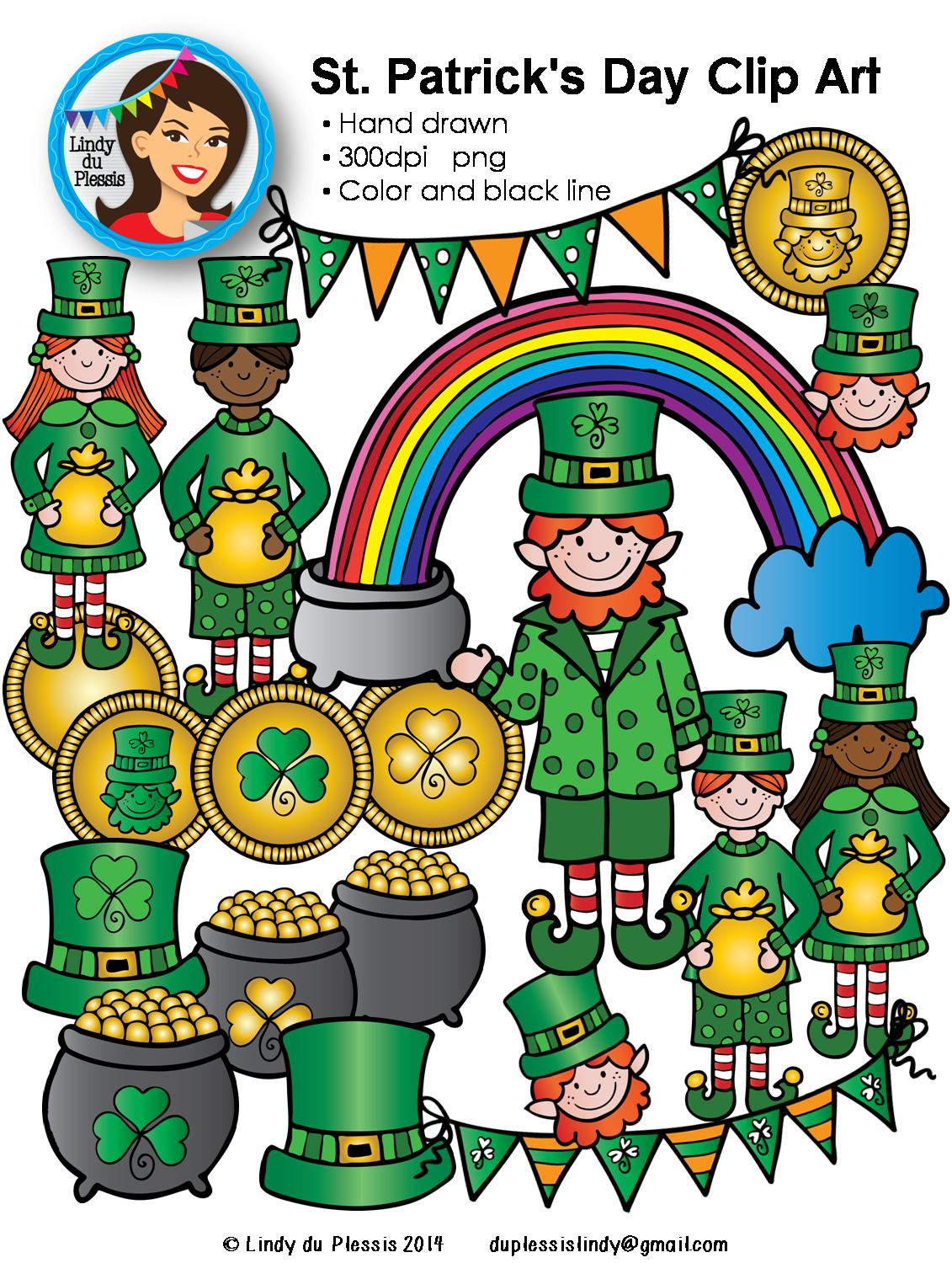 Coin clipart leprechaun gold. St patrick s day