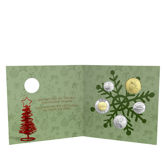Holiday gift set special. Coin clipart loonie