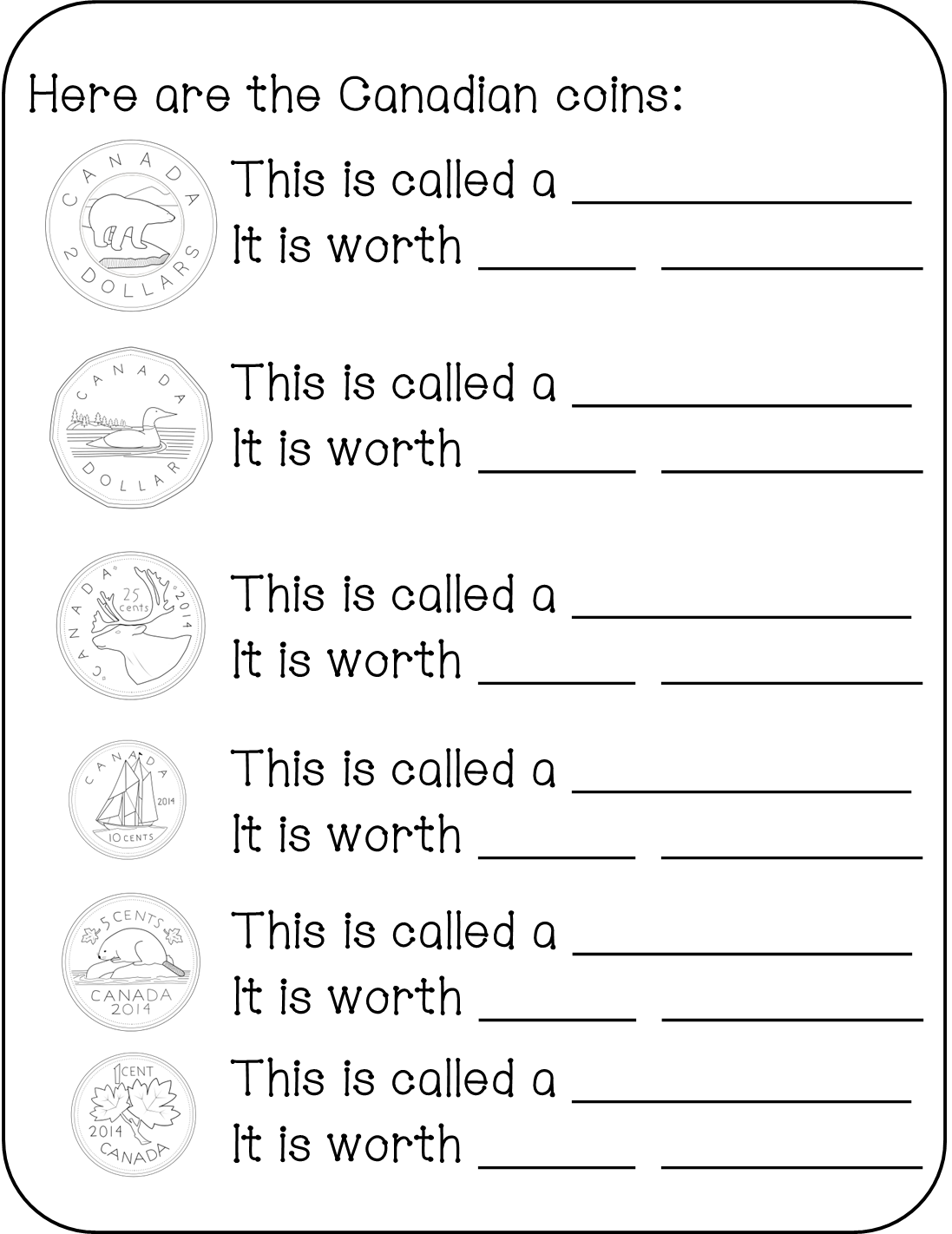 All about canada primary. Coin clipart loonie