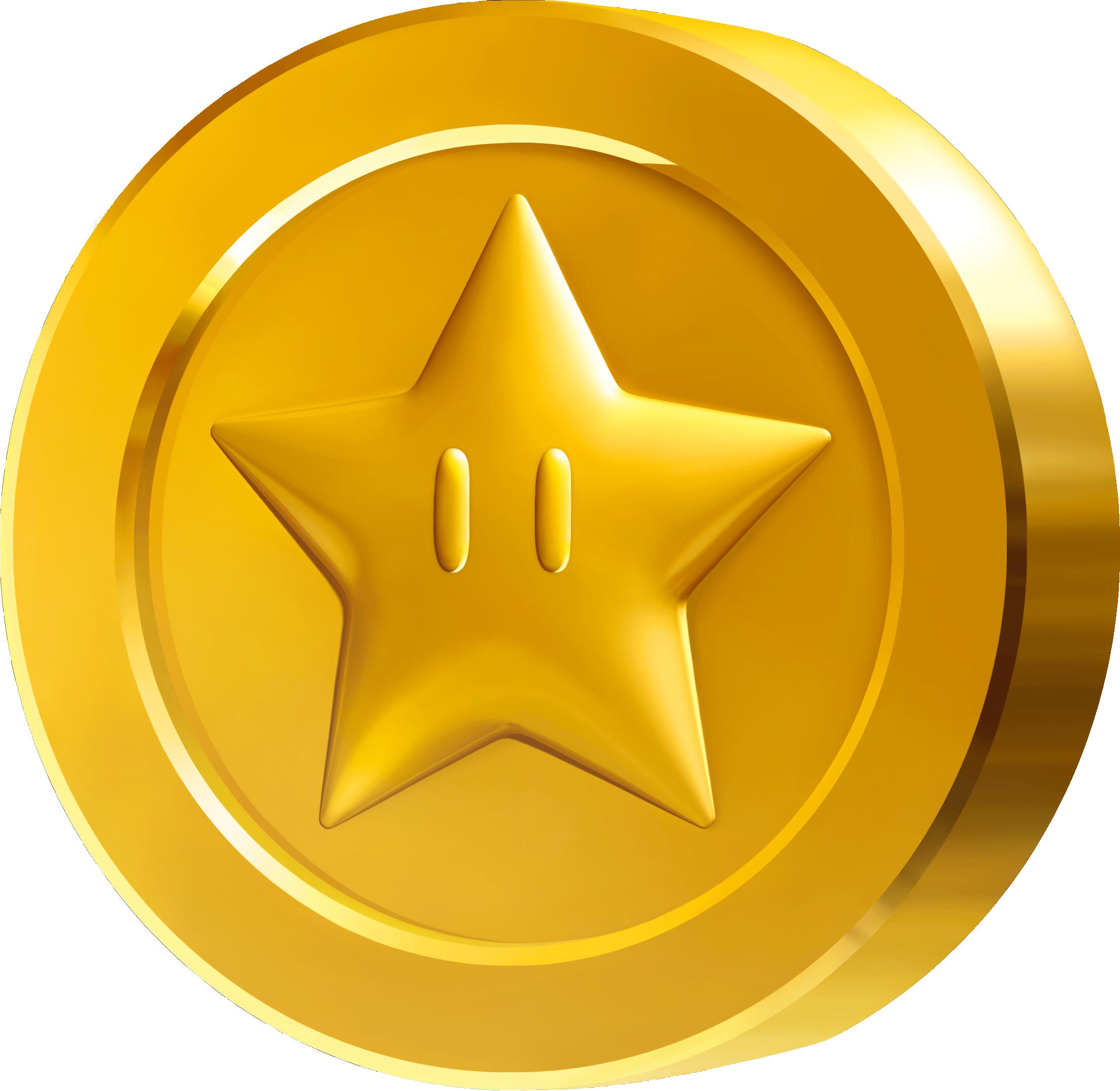 Mario bros . Coins clipart token