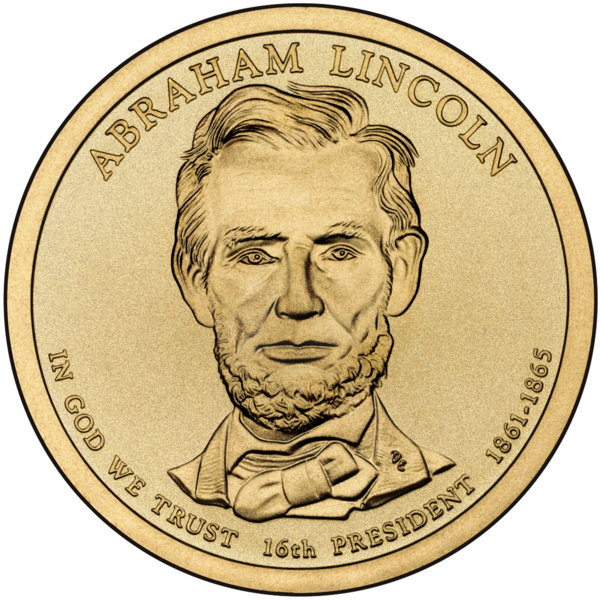 File abraham lincoln presidential. Coin clipart note