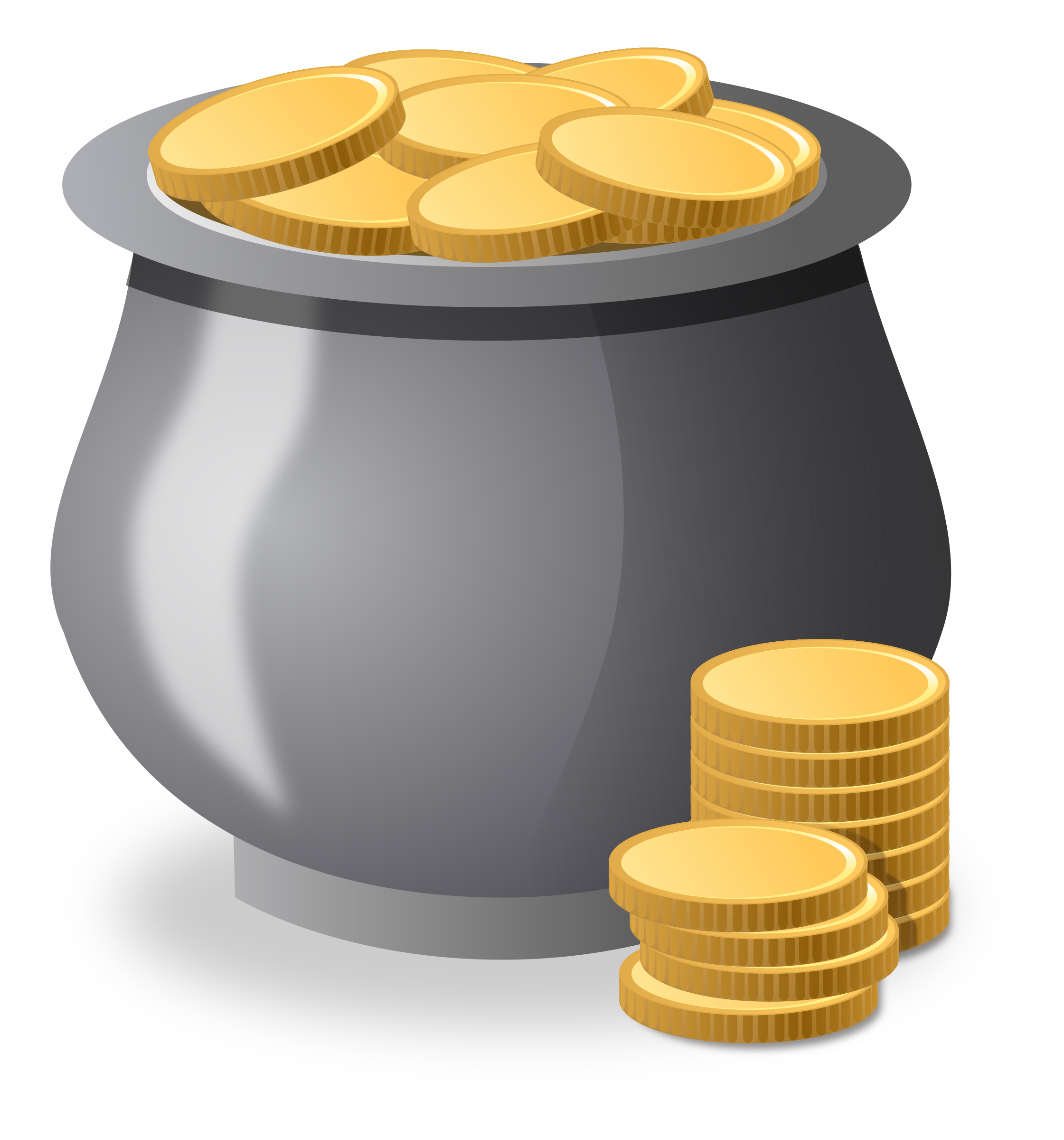 Coin clipart outline. Treasure money pencil and