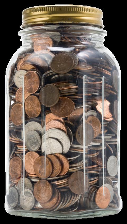 Coins clipart penny jar. Coin clip art transparente