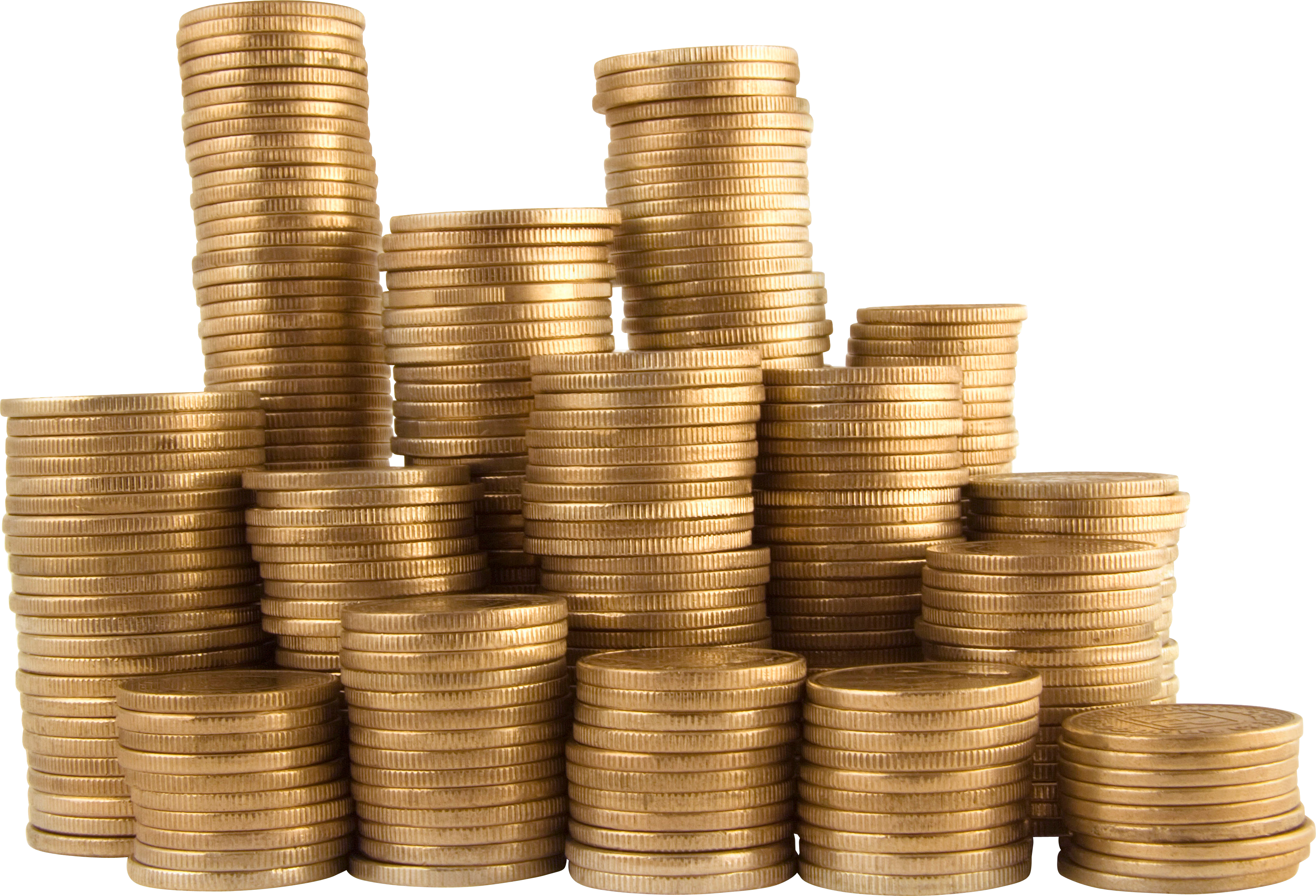 Stack of coins isolated. Economy clipart money donation