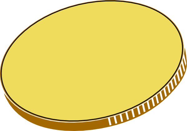 Coin clipart plain gold. Free coins picture download