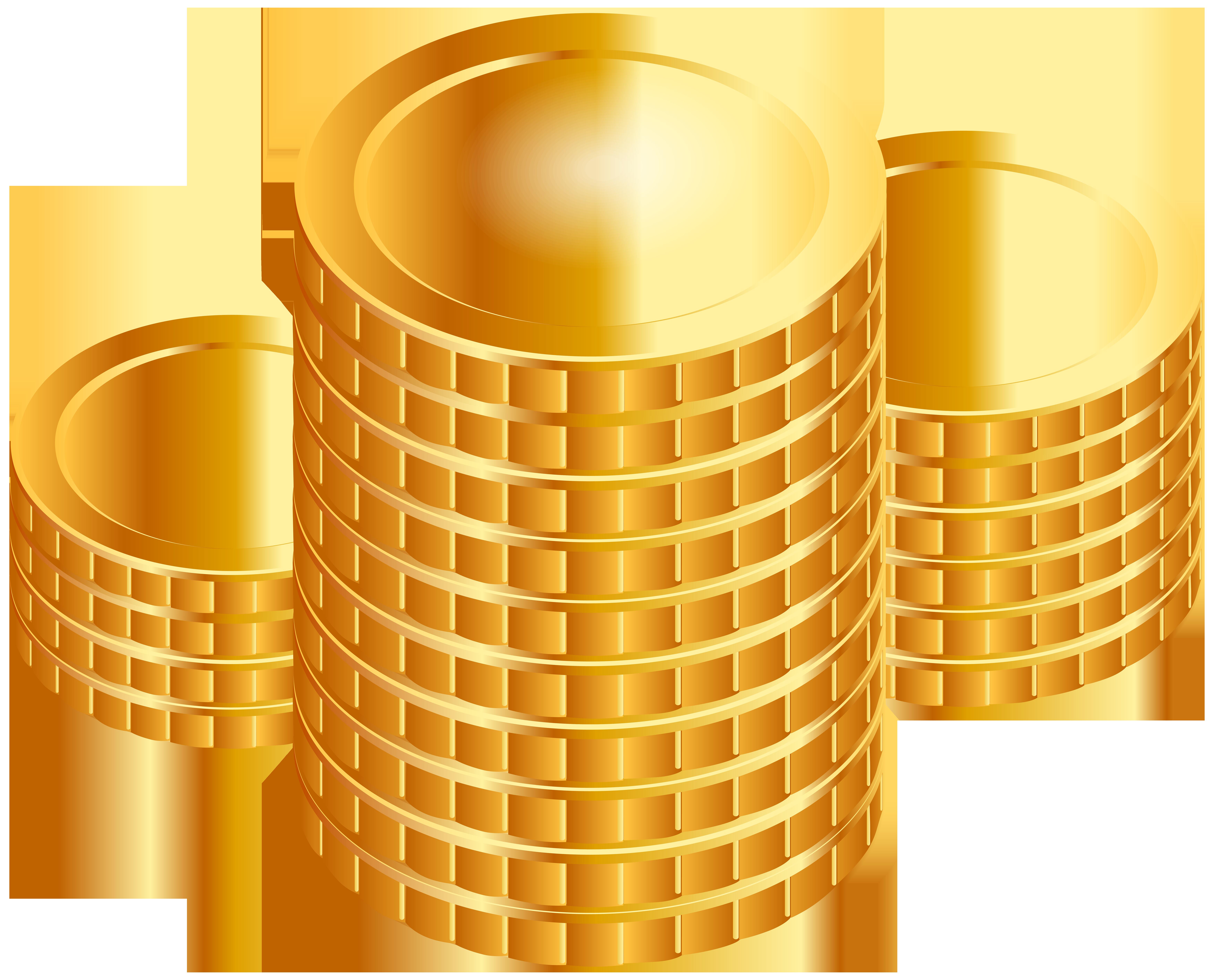Coin clipart plain gold. Coins png clip art