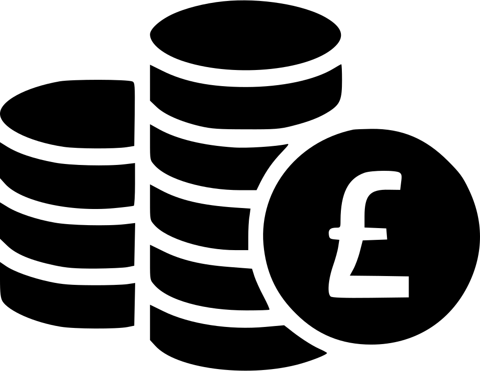 Coin clipart pound coin. Coins svg png icon