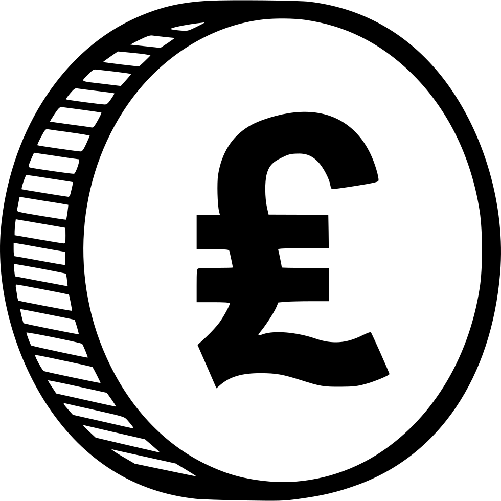 Svg png icon free. Coin clipart pound coin