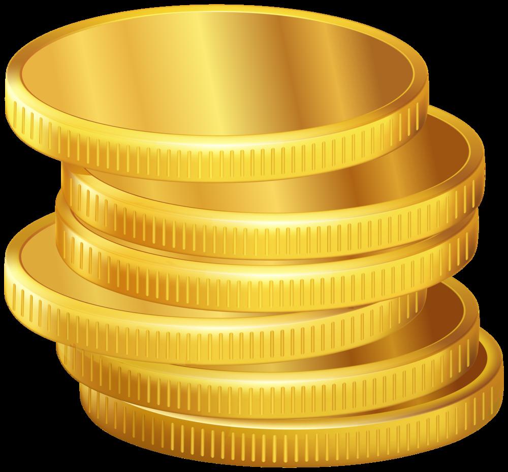 Coin clipart pound coin. Golden coins png