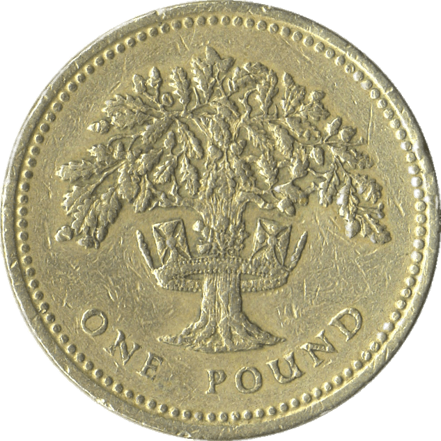 One pound coin png. Nickel clipart transparent