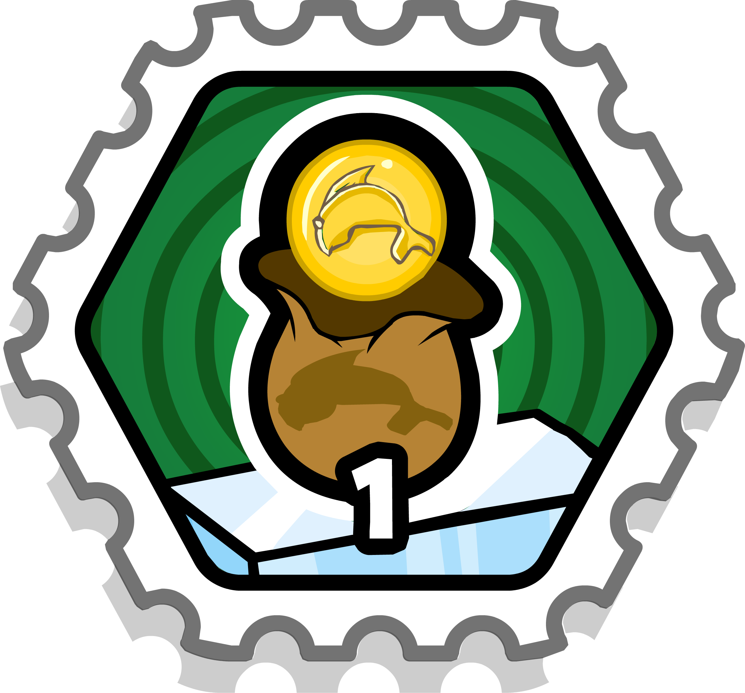 Stamp clipart printable.  coin bag puffle