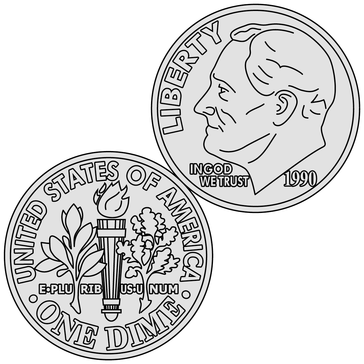 Free dimes cliparts download. Coin clipart printable