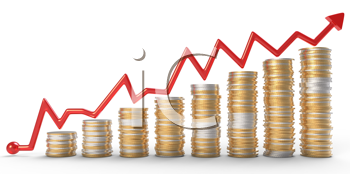 Royalty free image of. Coin clipart profit