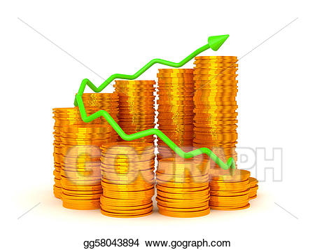 Coin clipart profit. Stock illustration earnings and