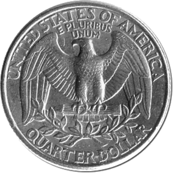 collection of quarter. Nickel clipart tail