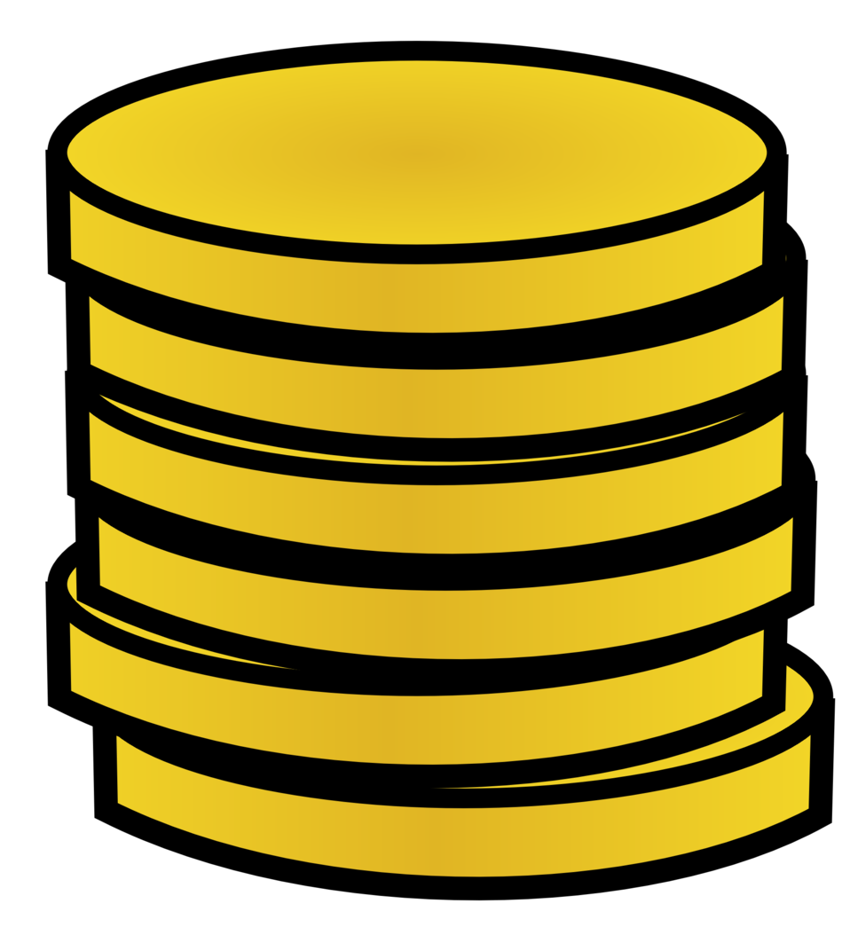 Public domain clip art. Coin clipart real gold