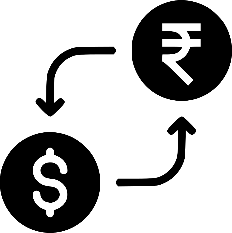 Money exchange currency conversion. R clipart rupee note