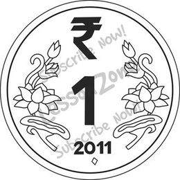 Coin clipart rupee india. Download one indian clip