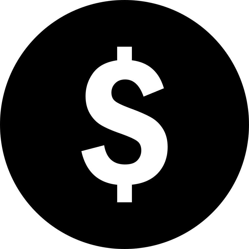 Dollar svg png icon. Coin clipart sack money