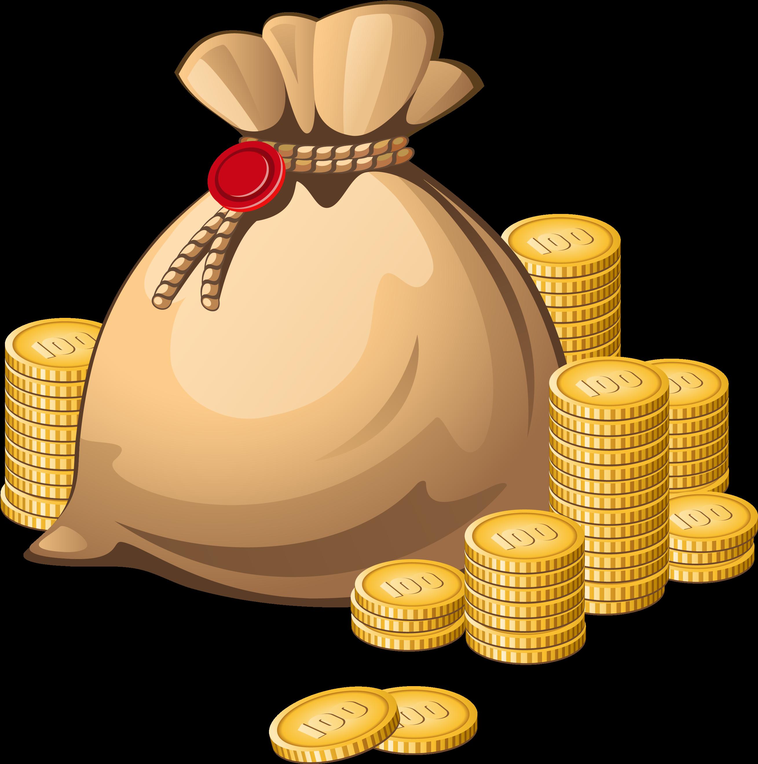 Coins clipart bag coin. Money royalty free clip