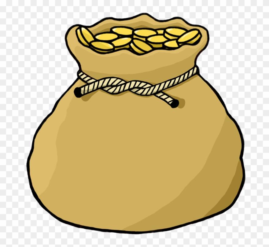 Bags sac bag of. Coin clipart sack
