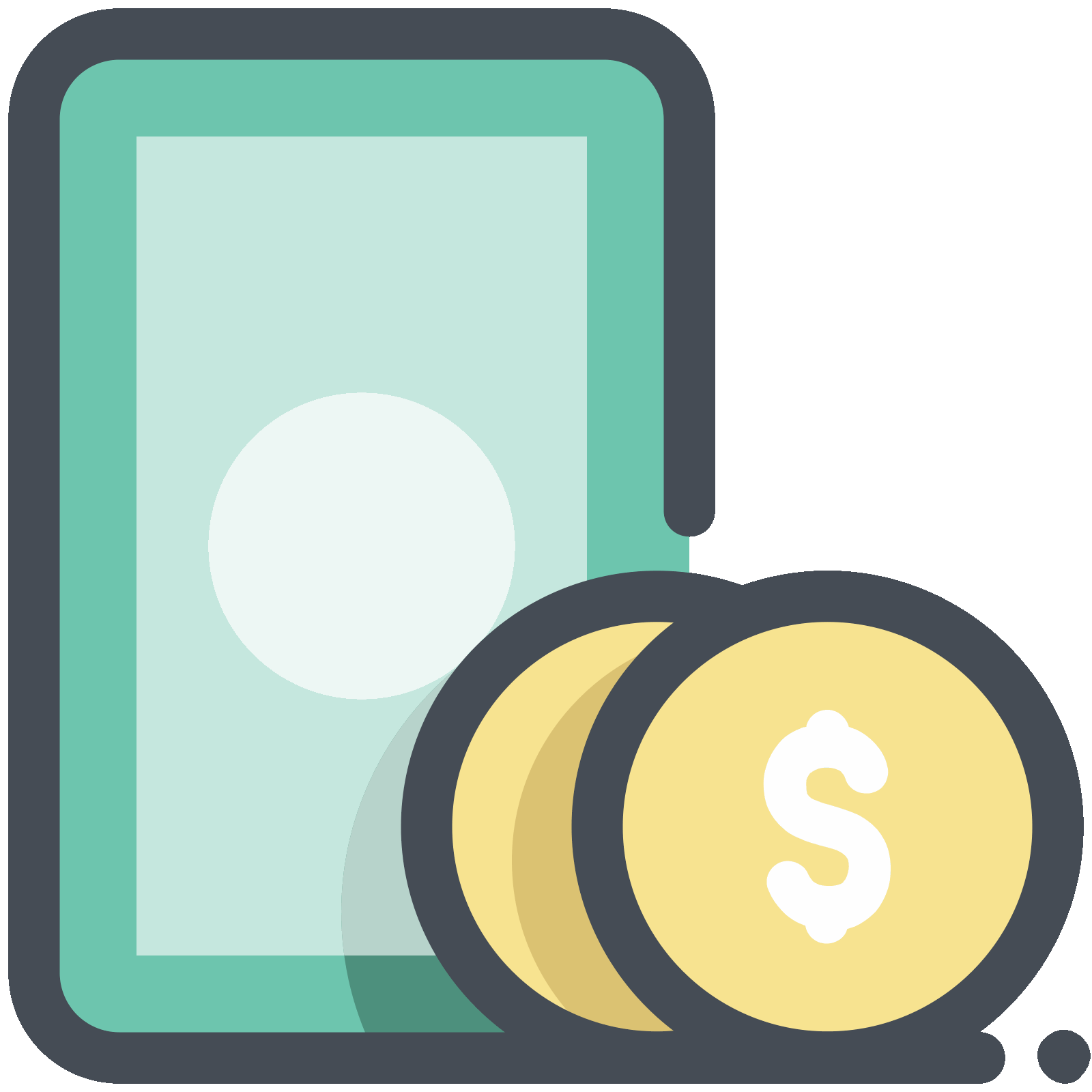 Finance clipart coin notes. Ic ne and coins
