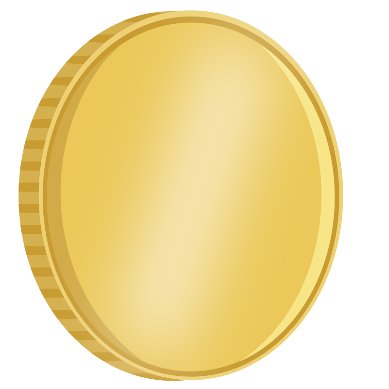 Spinning medium image png. Coins clipart blank coin