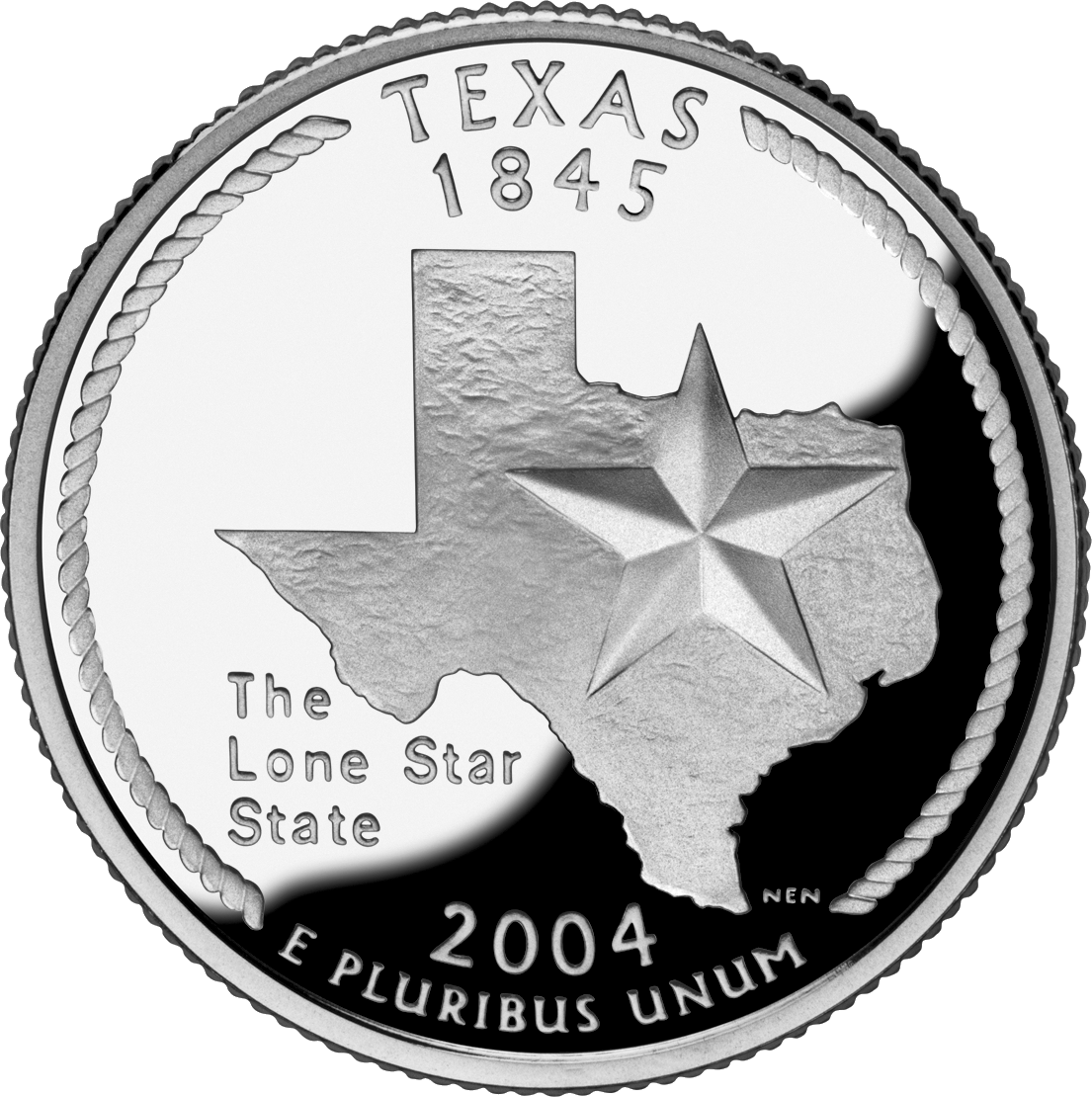 Nickel clipart american coin.  texas state quarter
