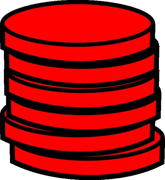 Coin clipart single coin. Red coins clip art