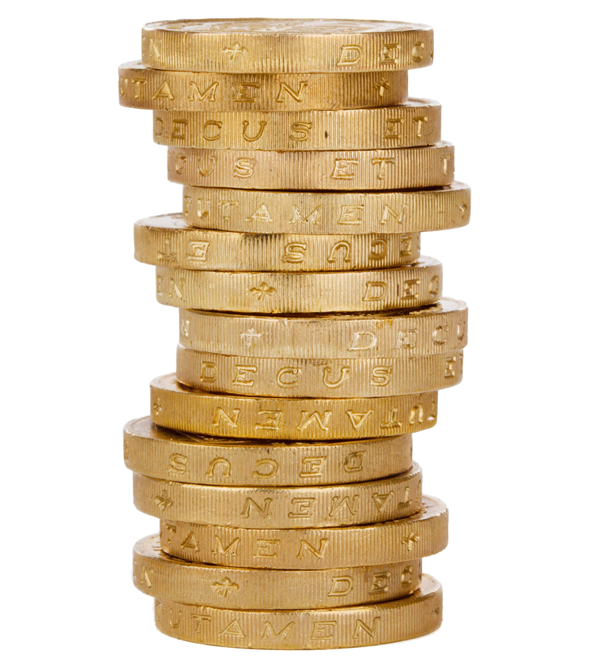 Coins clipart stack coin. Png hd mart