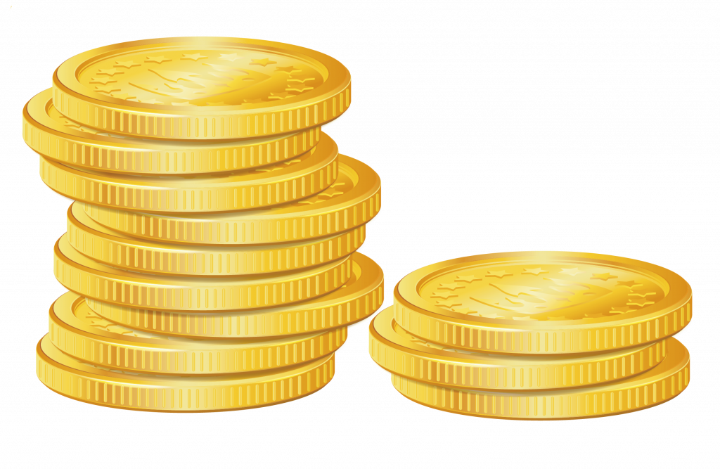 Unique of gold clip. Coins clipart stack coin