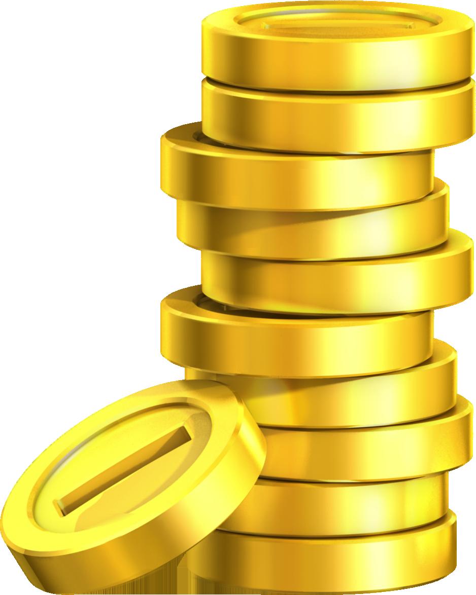 Coins clipart stack coin. Super mario land golden