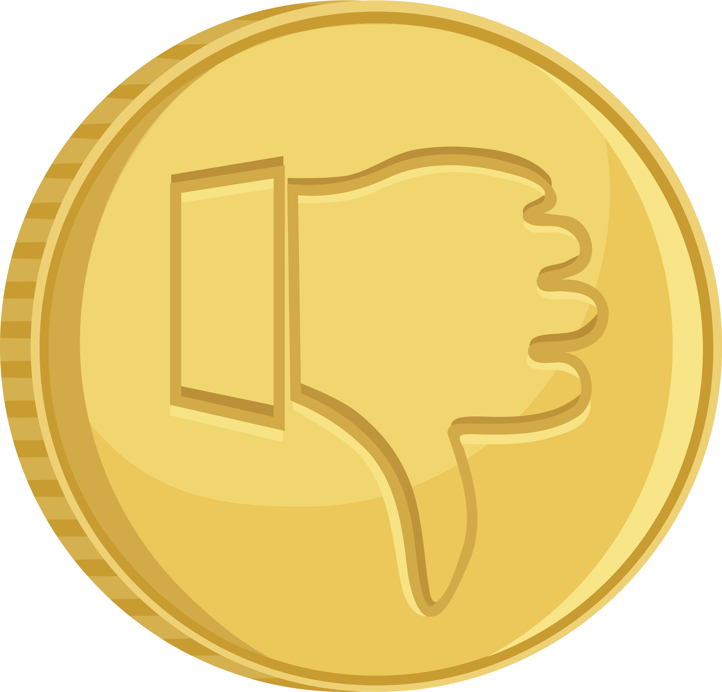 Thumbs down big image. Coin clipart svg