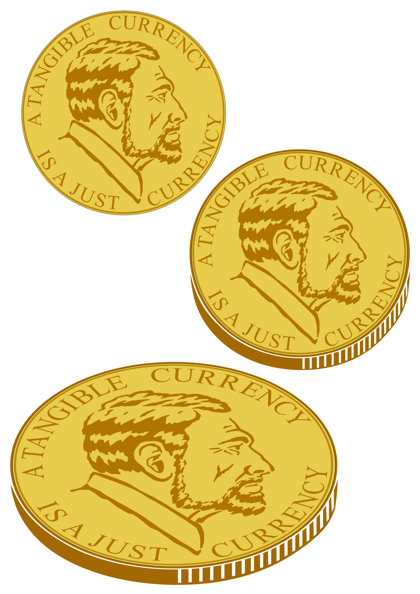 Gold coin for plotter. Coins clipart hand clipart