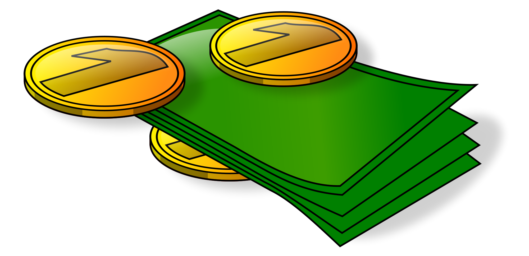 Coin clipart svg. File bills and coins