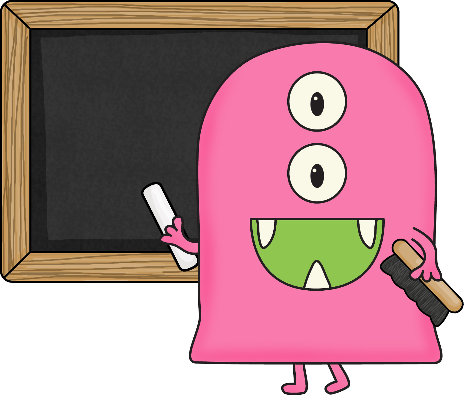 Monster clipart teacher.  clip art black